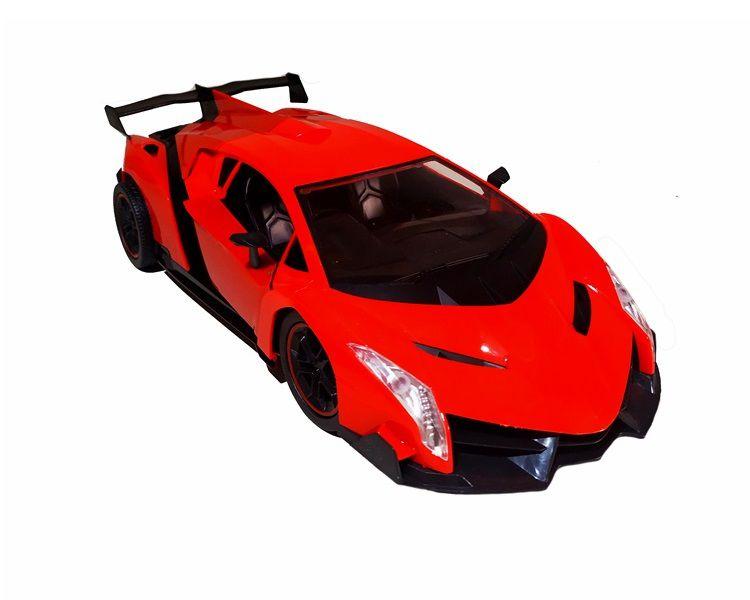 Carrinho Controle remoto Recarregável Ferrari Lamborghini Abre Portas c/ Farol Vermelha