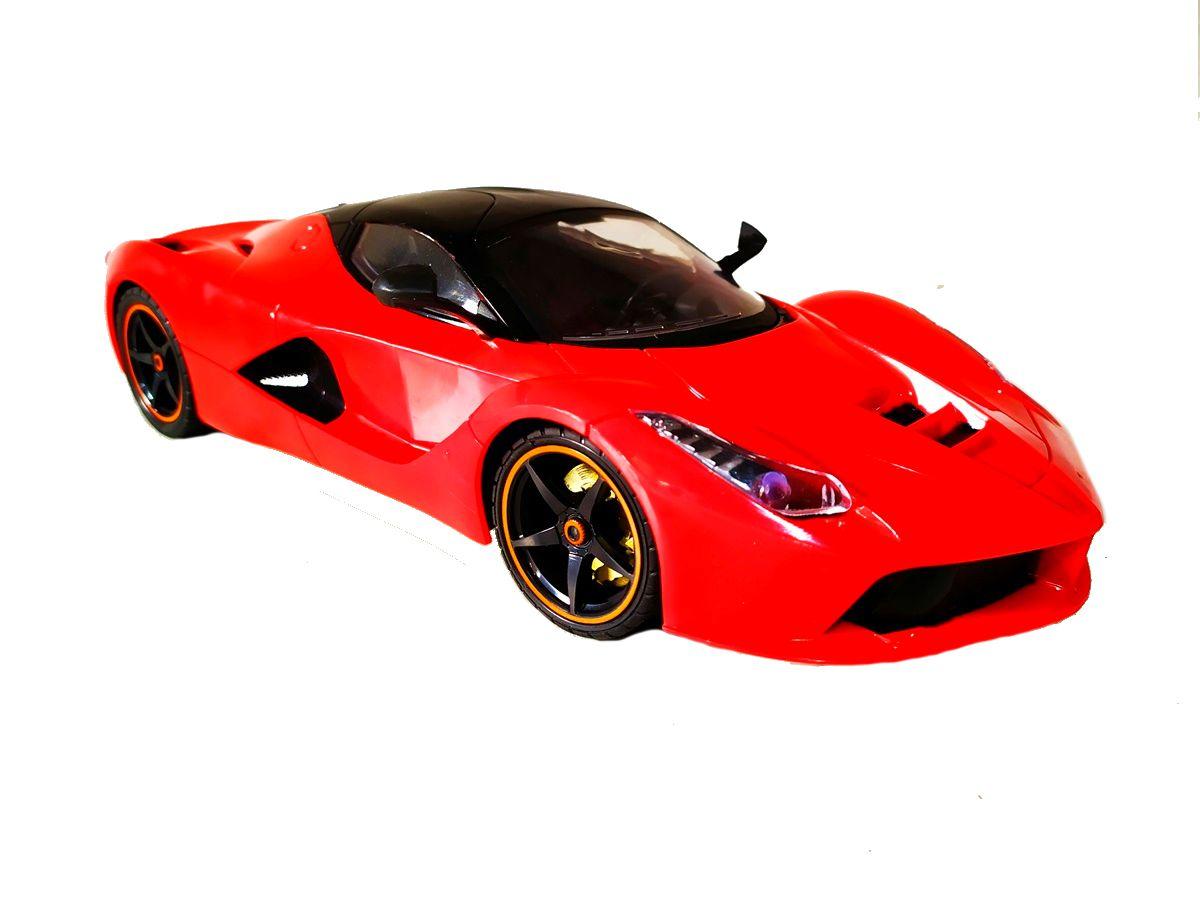 Carrinho de Controle Super Ferrari Spider Bateria Recarregável Vermelha