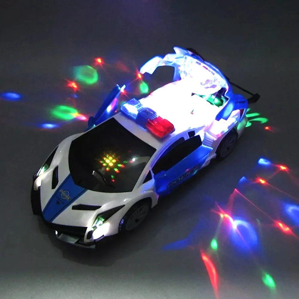 Carrinho de Polícia Musical com Luzes Giratório Infantil