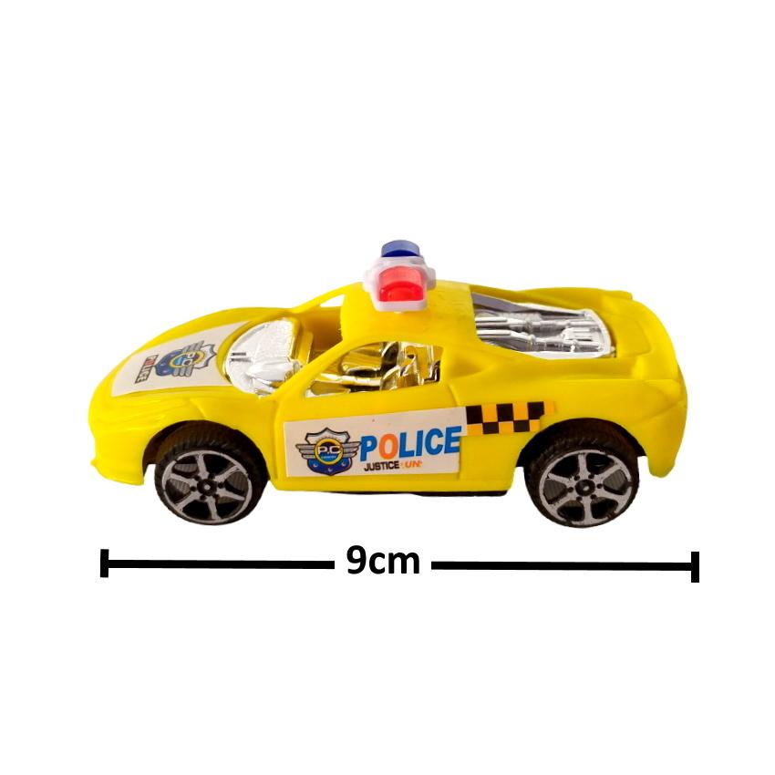 Carrinho Hot Policia Fricção Coleção com 4 Carros