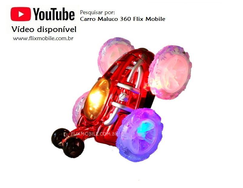 Carro Maluco 360 Controle Remoto Carrinho que faz Acrobacias