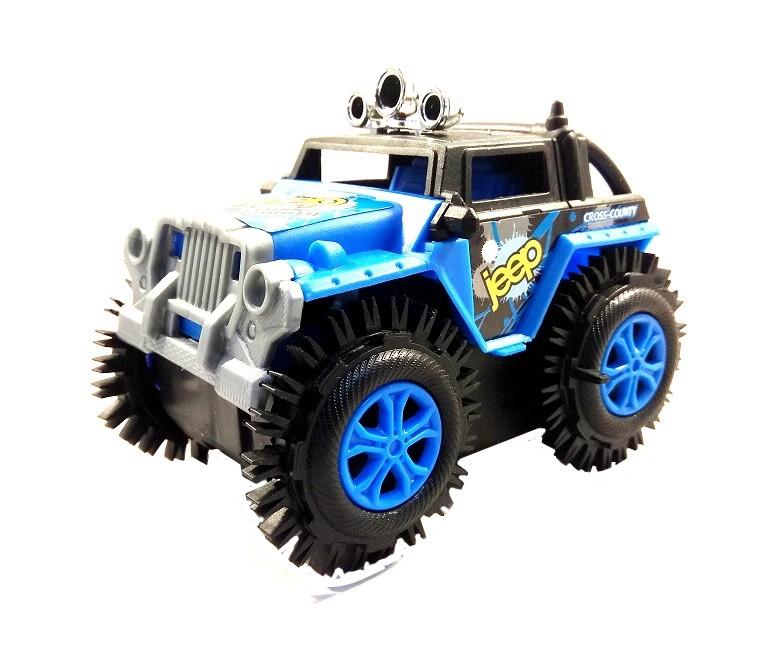 Carro Maluco Jeep Carrinho Cambalhota Bate E Volta >> Jipe AZUL<<