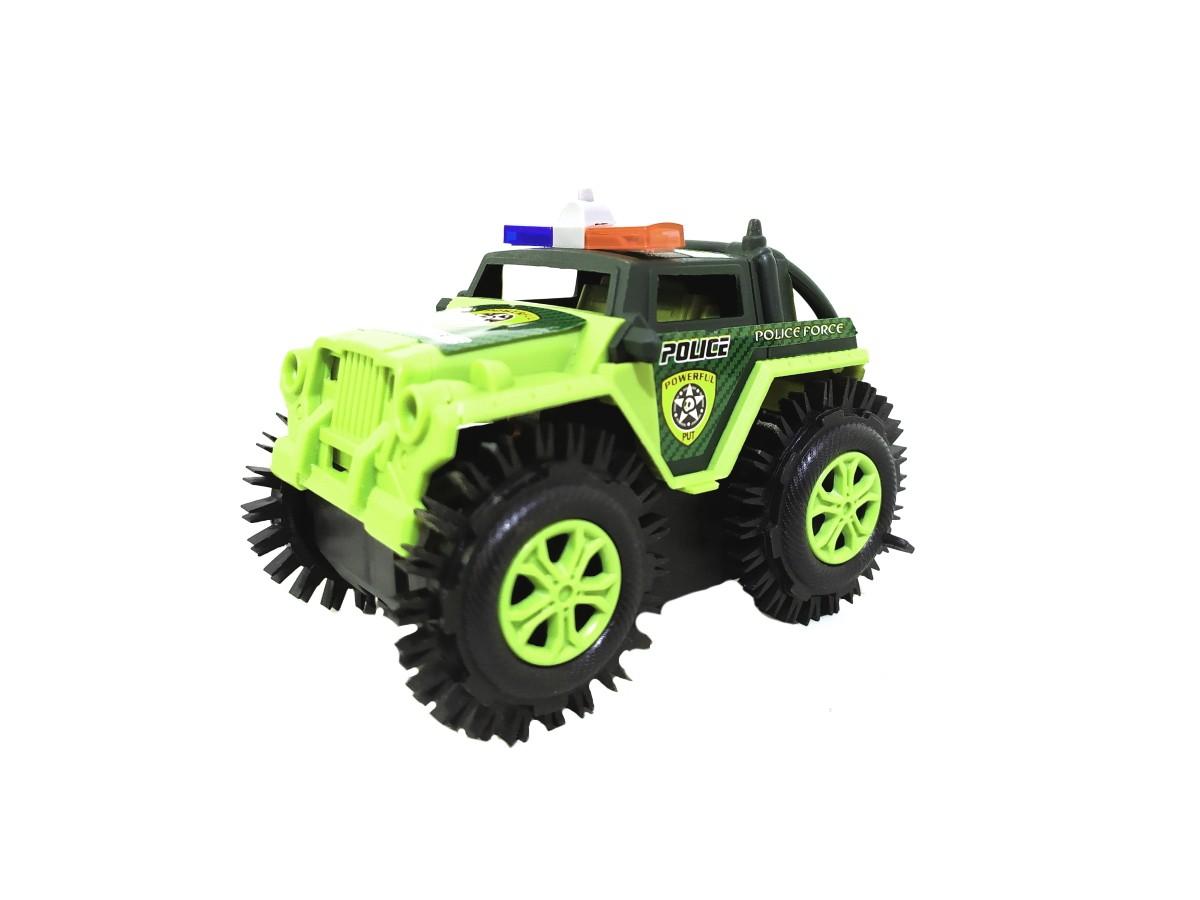 Carro Maluco Jeep Carrinho Cambalhota Bate E Volta Jipe >> Policia VERDE<<