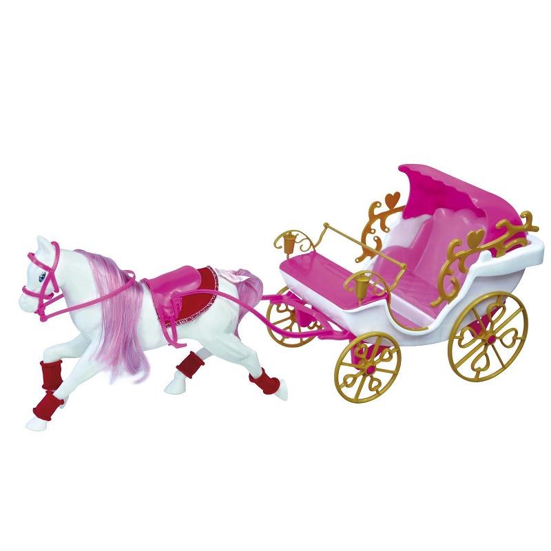 Carruagem Real Infantil Princesas Para Boneca Barbie Rosa