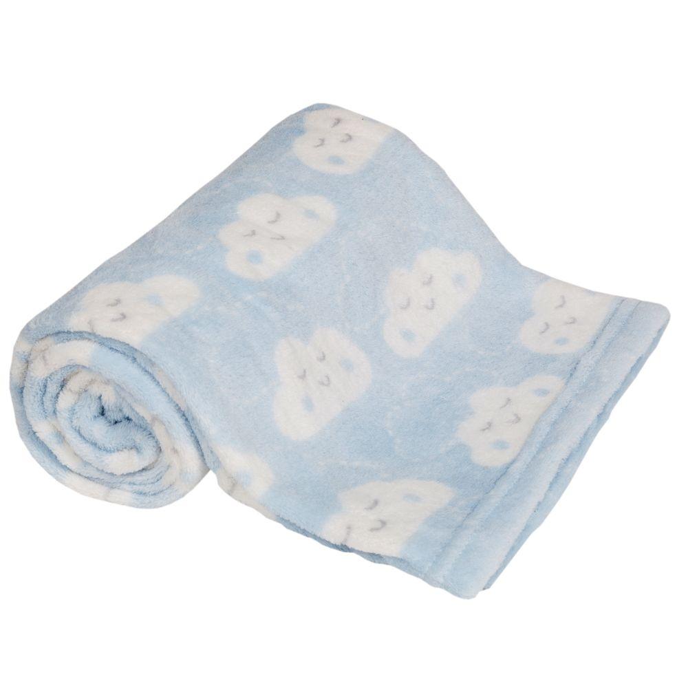 Cobertor Manta com Naninha de ovelhinha Azul Buba