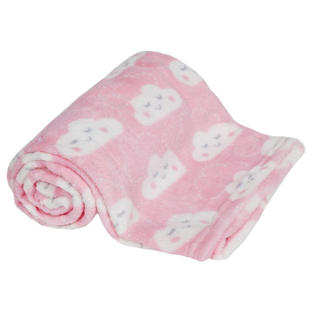 Cobertor Manta com Naninha de ovelhinha Rosa Buba