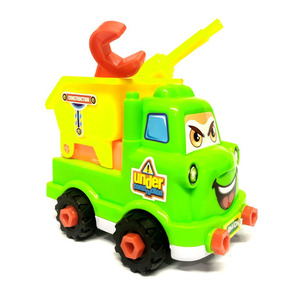 Coleção Caminhões de Montar e Desmontar com Chave Brinquedo Infantil Bebe