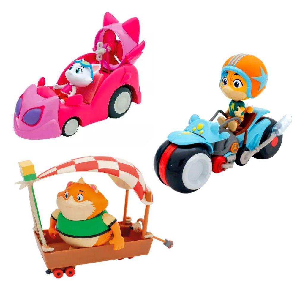 Coleção Completa 44 Gatos Veículos com Milady Almôndega Lampo