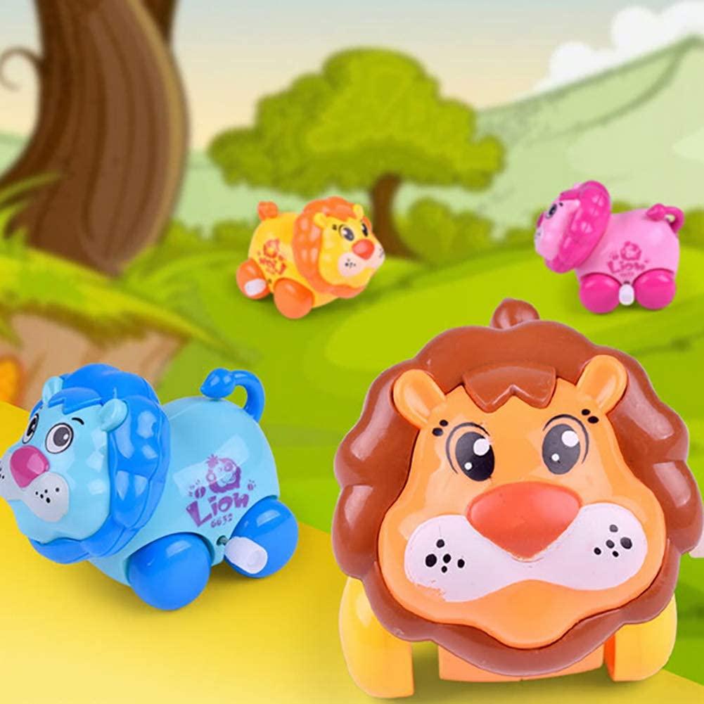 Coleção Completa Carrinho Turminha Animal com 4 Bichinhos de Fricção Leãozinho