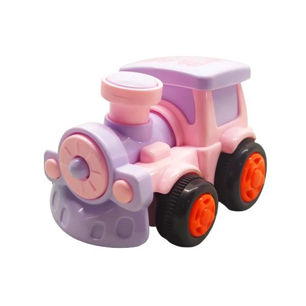 Coleção Completa Veículos Divertidos com 4 Carrinhos de Fricção Infantil