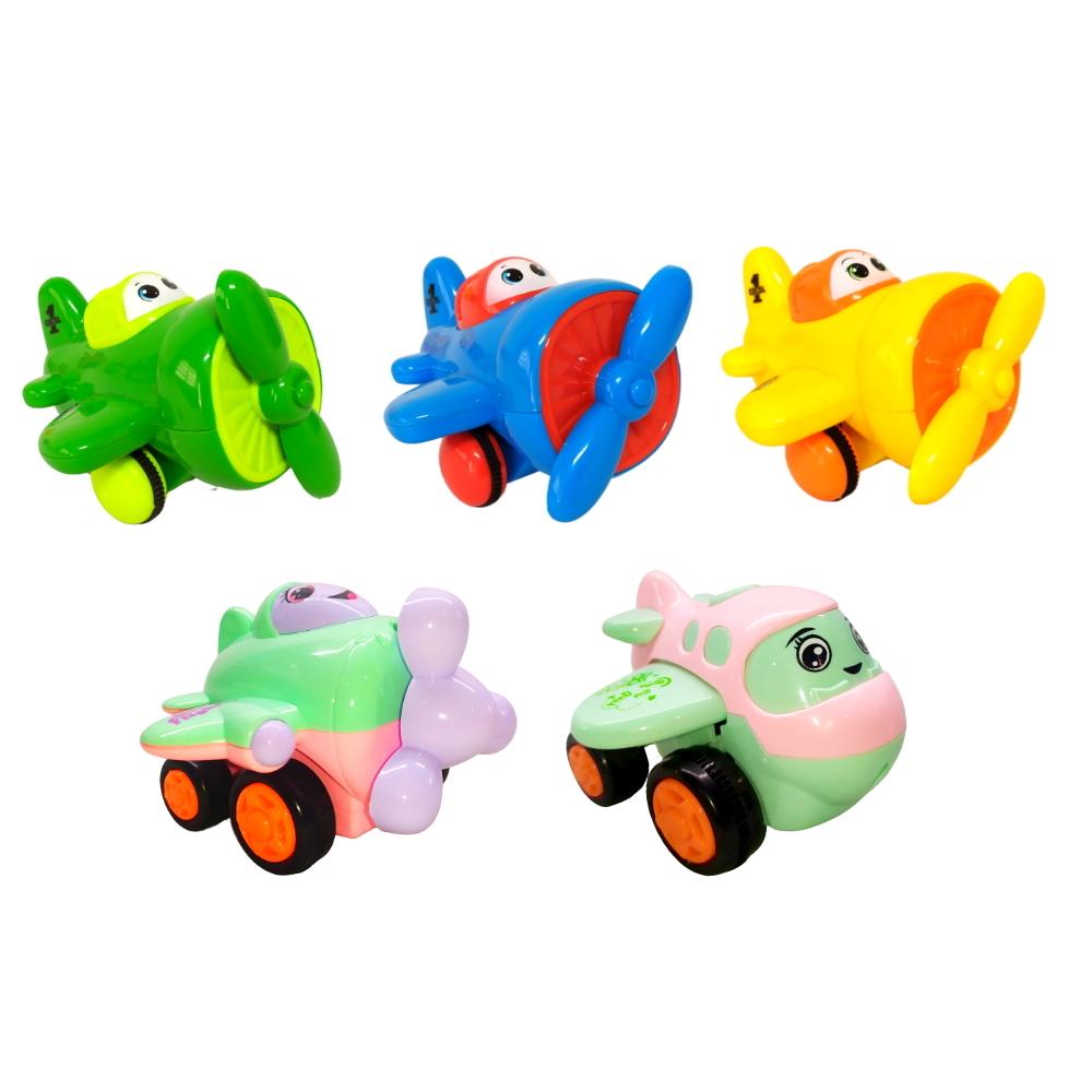 Coleção de Aviões de Fricção Infantil com 5 Unidades