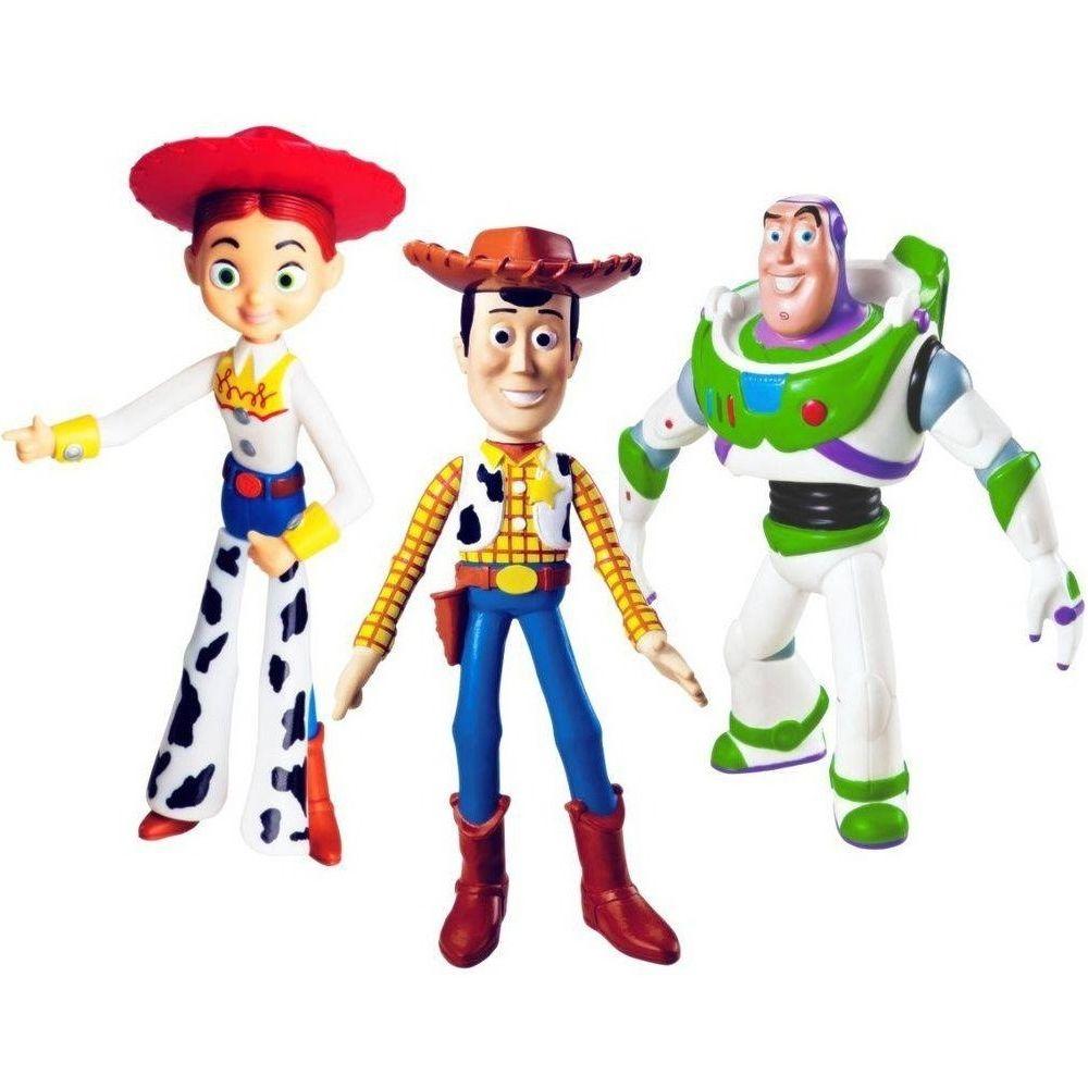 Coleção Toy Story com Woody Buzz e Jessie 18Ccm Vinil Premium
