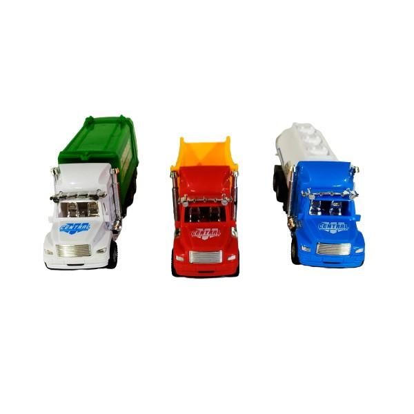 Coleção Transportes Pesados Caminhão Caçamba de Lixo e Tanque de Fricção