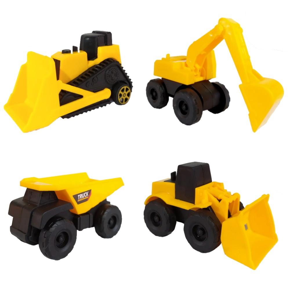 Coleção Tratores e Caminhão a Fricção Brinquedo Infantil