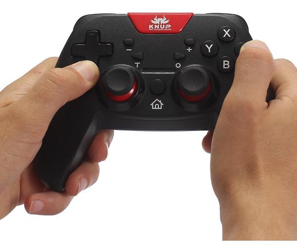 Controle Sem Fio Nintendo Switch Vibração Cabo Recarregavel - Knup