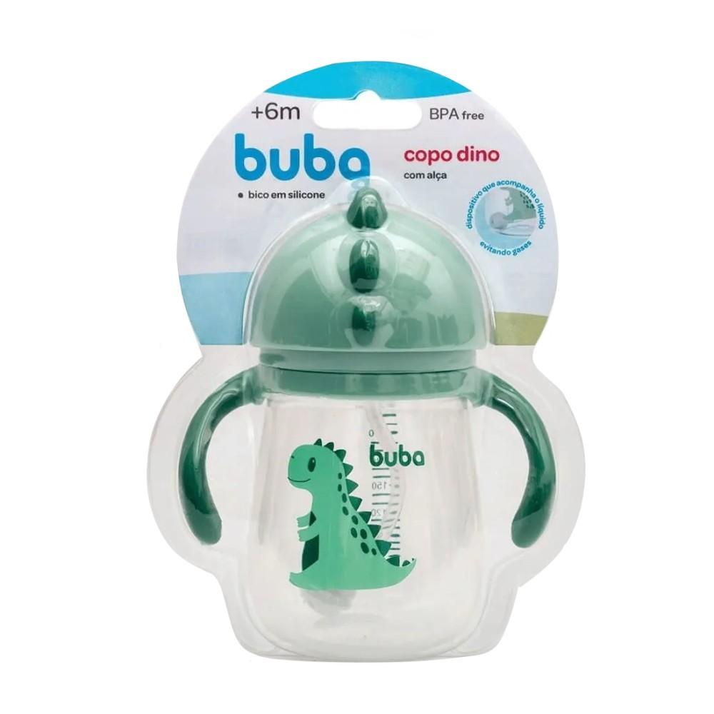 Copinho Baby Alça removível Canudo e Bico Dino Verde á partir de 12 meses