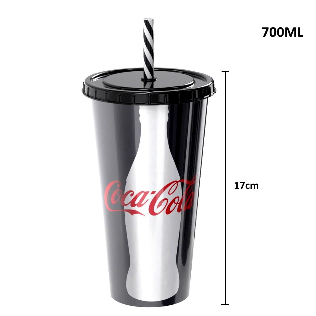 Copo de Refrigerante da Coca Cola 700ml com Canudo Black Premium