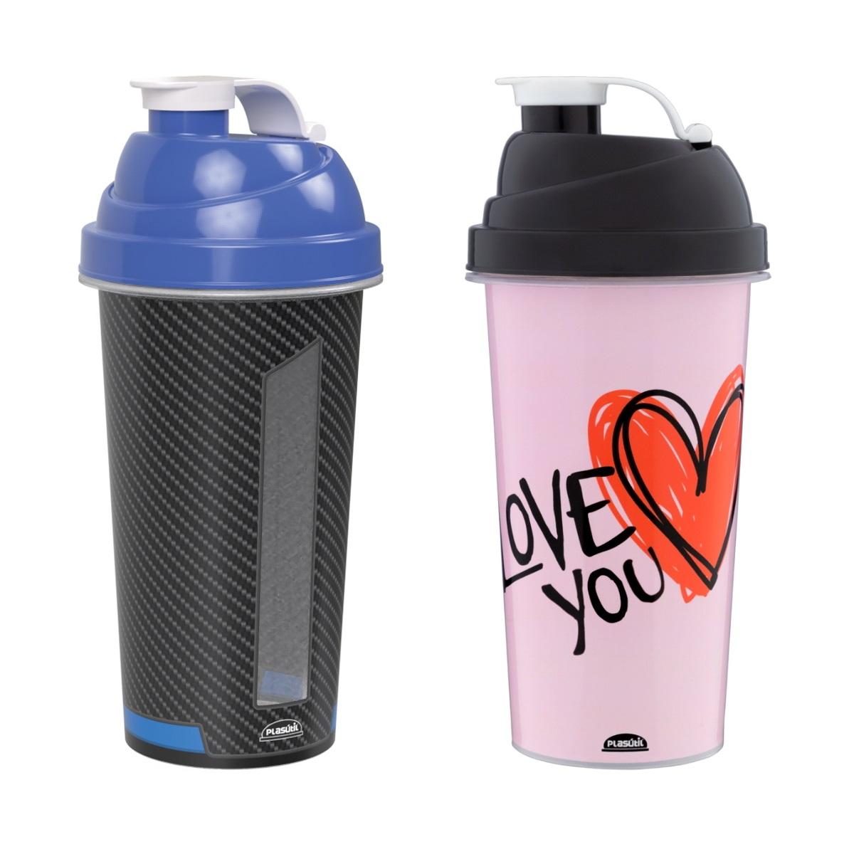Copos Shake Shakeira Academia Hidratação Kit Casal Fitness
