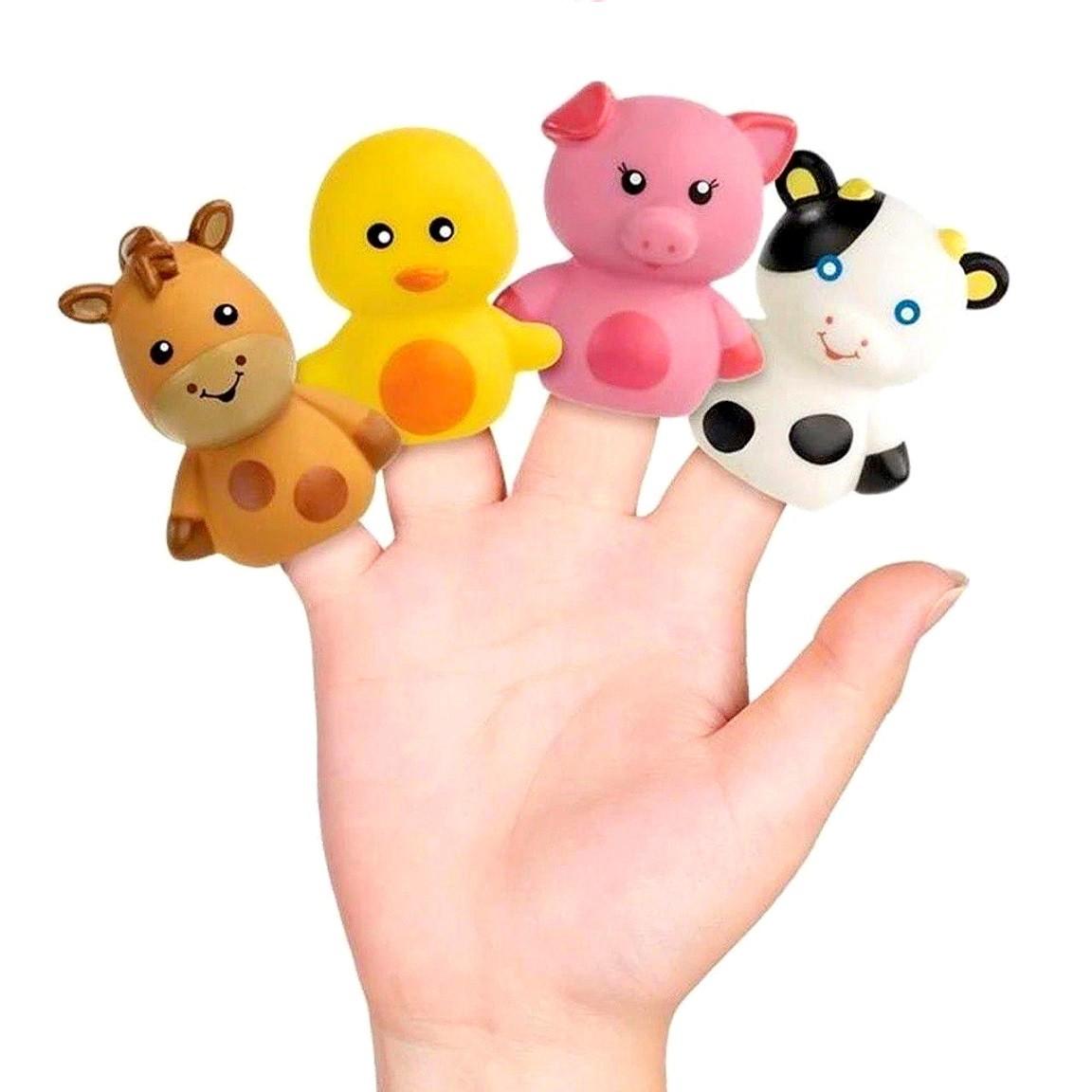 Dedoche Fantoche de Dedos Brinquedo Bebe Teatrinho de dedos Fazenda