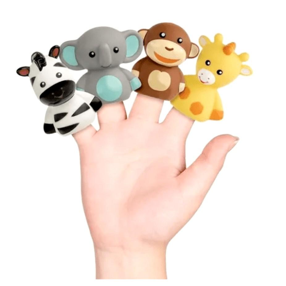 Dedoche Fantoche de Dedos Brinquedo Bebe Teatrinho de dedos Selva