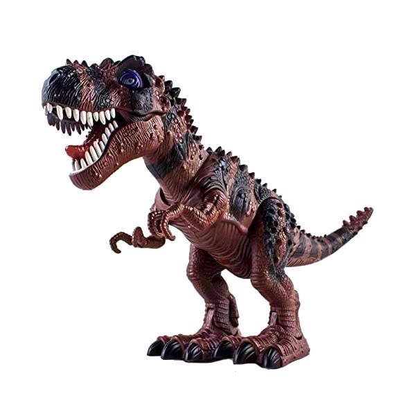 Dinossauro que Anda Tiranossauro Rex com Som Luz e Bota Ovo - Marrom