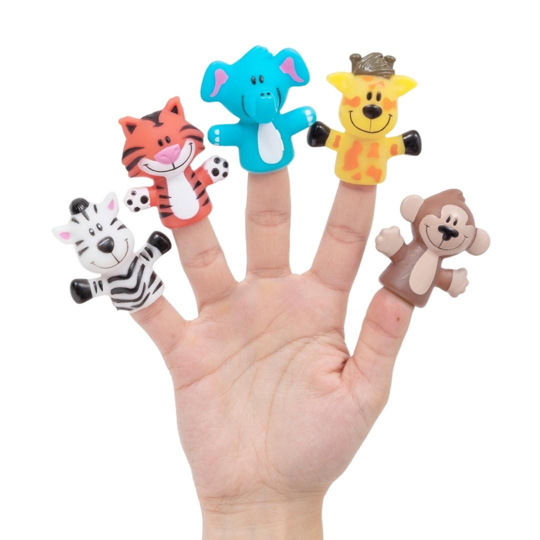 Fantoche de Dedos Brinquedo Bebe Teatrinho de Dedos Safari