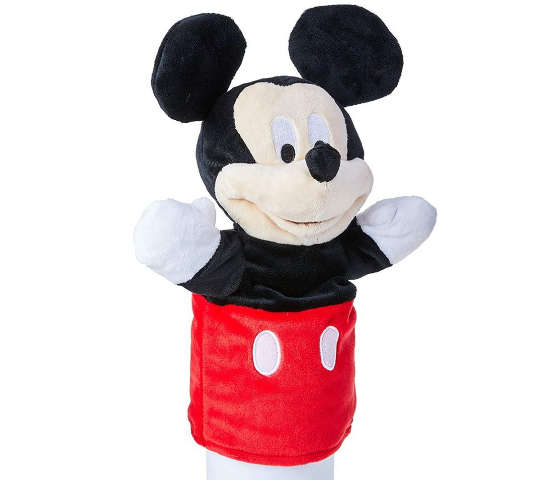 Fantoche de Pelúcia Mickey Mouse de 28cm Educativo Disney