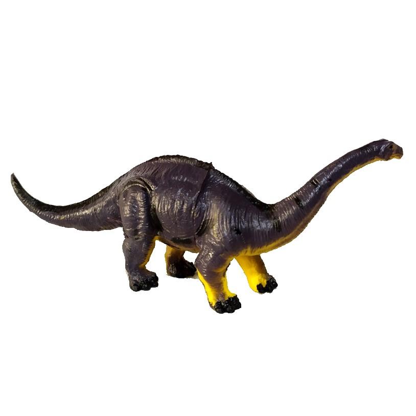 Figura Dinossauro Apatossauro Realista com ovo Arbusto e Árvore