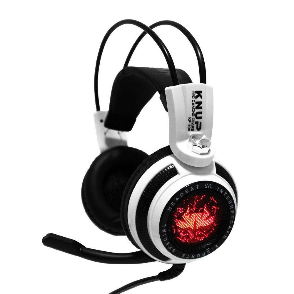 Fone de ouvido Headset Gamer Led 7.1 Bass com Microfone KP-400