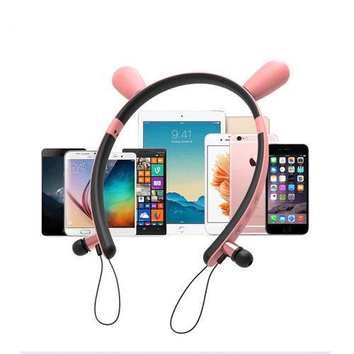Fone de Ouvido In-ear Bluetooth orelha de coelho
