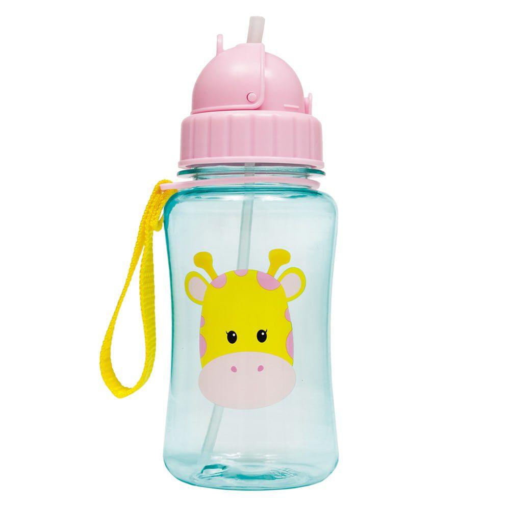 Garrafa para Criança e Bebê com Canudo Girafinha 400ML