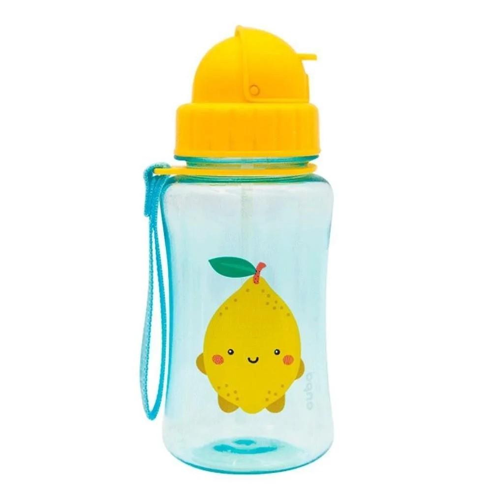 Garrafinha Infantil com Canudo 400ml Premium BUBA Frutti Limão