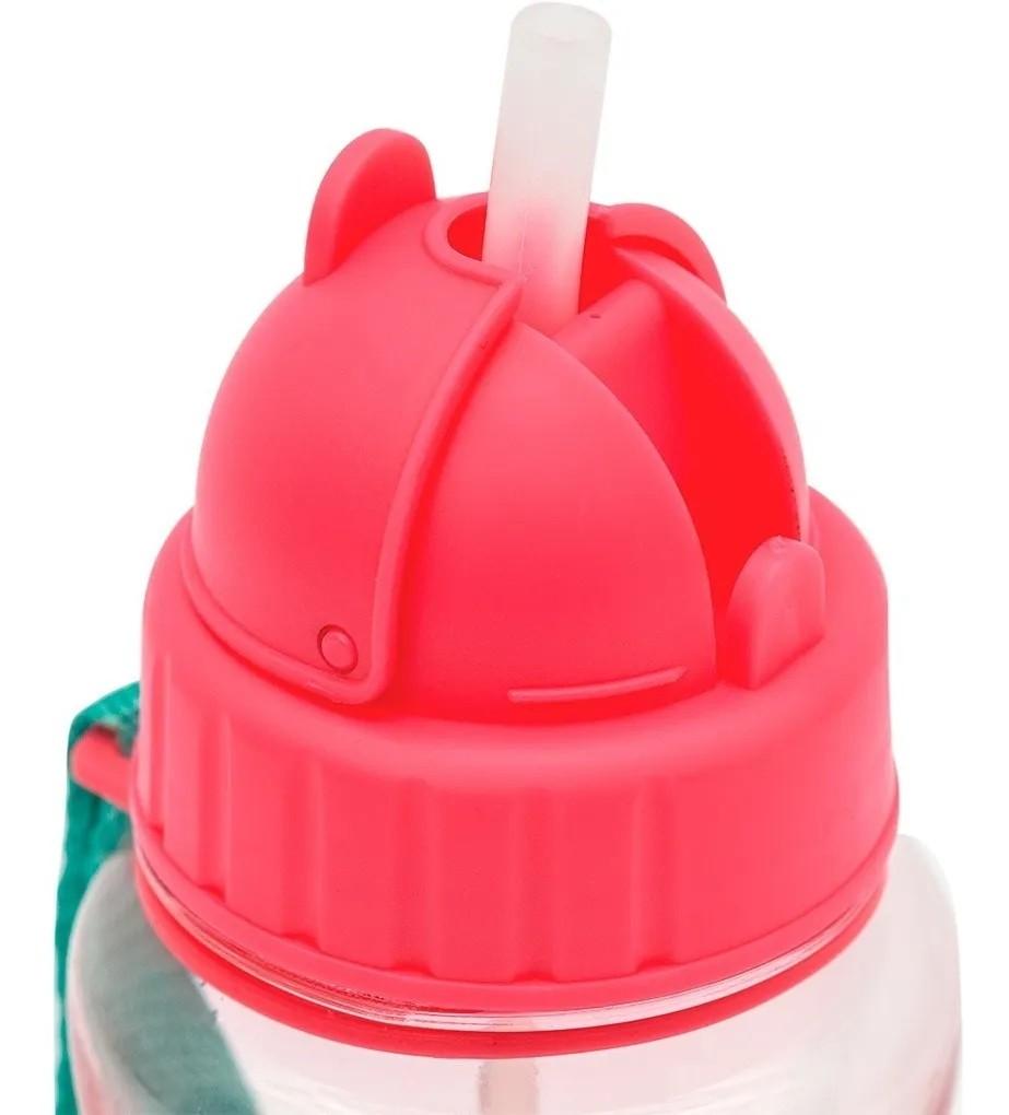 Garrafinha Infantil com Canudo 400ml Premium BUBA Melancia