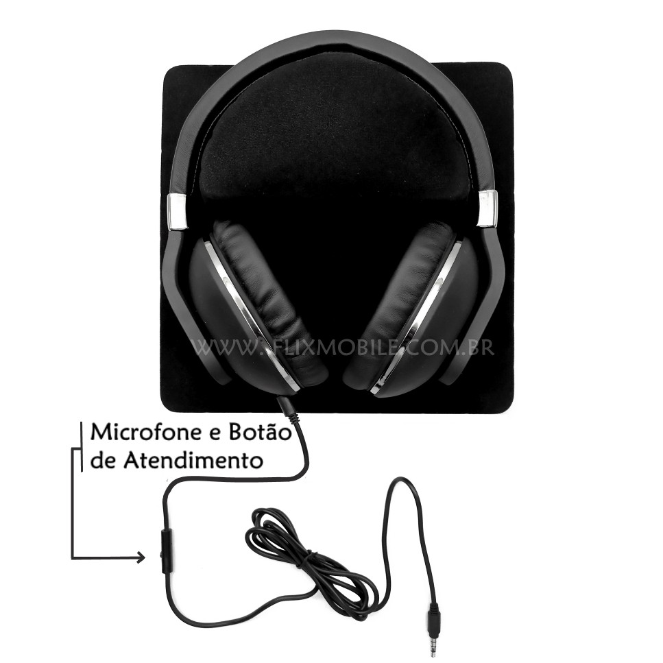 Headset Gamer com Microfone para PS4 Xbox One Alien DJ com Som HD