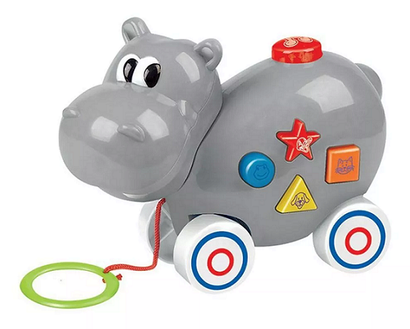 Hipopótamo Musical Educativo Infantil com Sons e Luzes