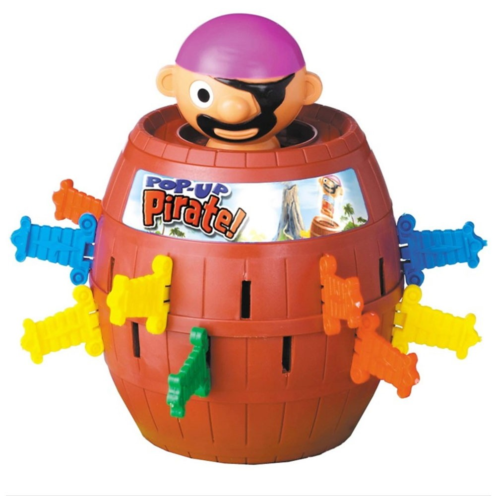 Jogo Pula Pirata com Barril Brinquedo Interativo Infantil