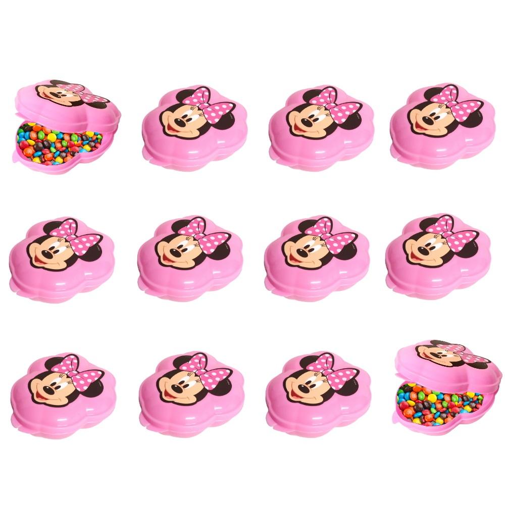 Kit c/ 24 Porta Mix Minnie Rosa Plasutil para Doces para Festas
