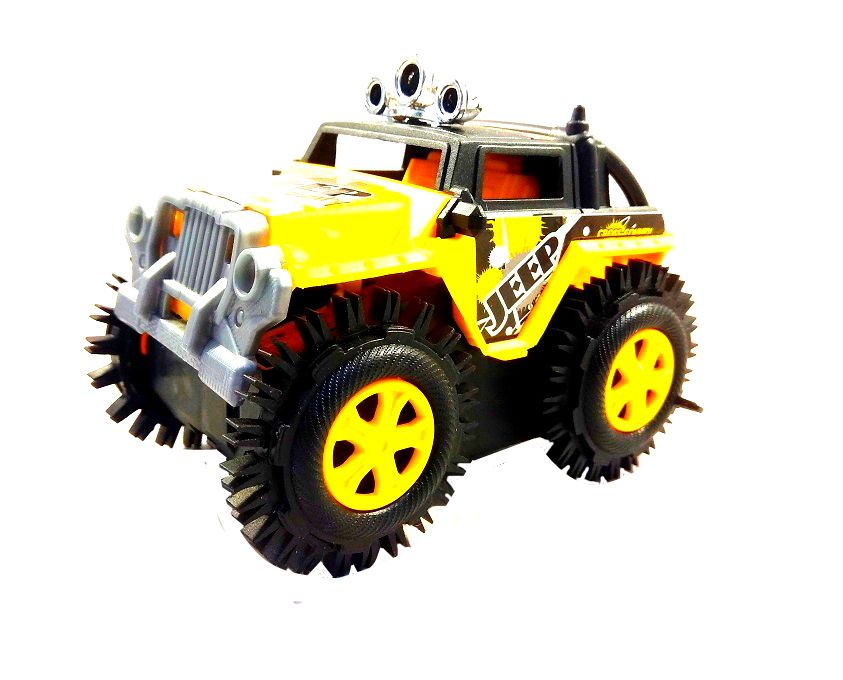 Kit C/3 - Carrinho Jeep Cambalhota Bate E Volta Carro Maluco