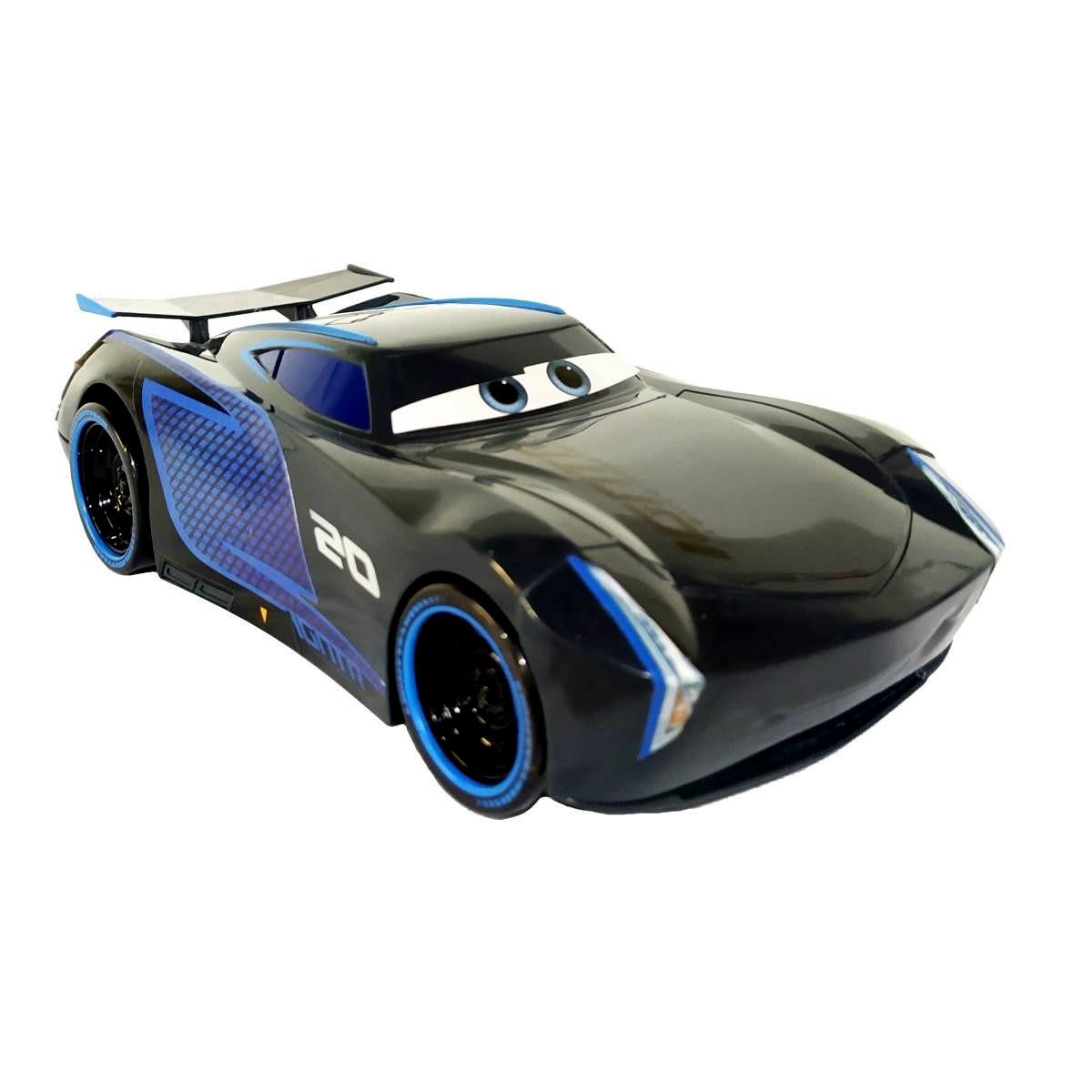 Kit c/ 3 Carrinhos Fricção Disney Carros Jackson Storm 22cm e Mate Mcqueen 10cm