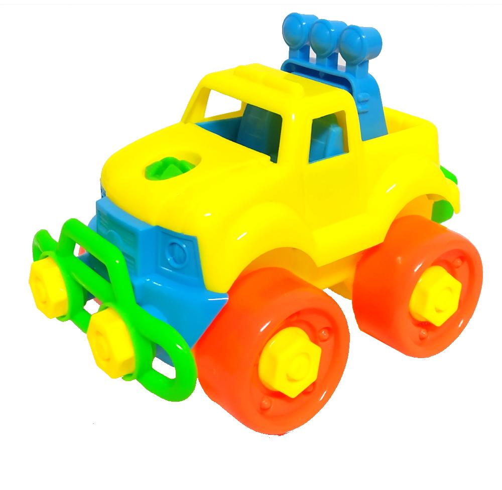 Kit Caminhonetes Monta Desmonta com Chave Brinquedo Infantil