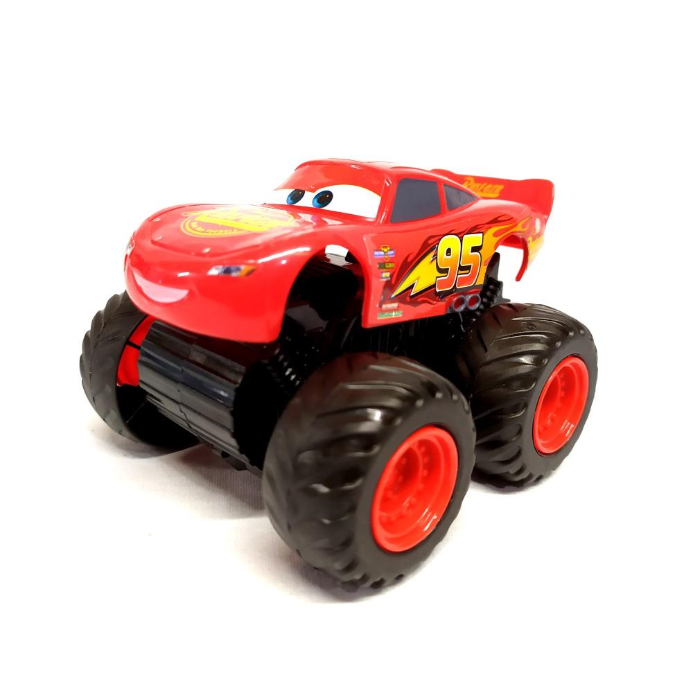 Kit Carros Fricção Jackson Storm 22cm com Relâmpago Mcqueen Monster 10cm