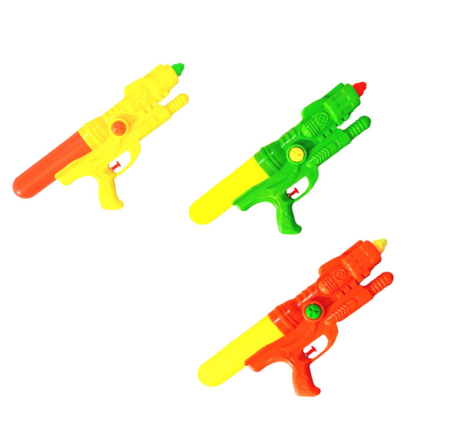 Kit com 3 Pistolas de água Arminha Flix Water Gun 350ml 33 Cm