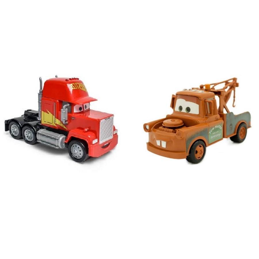 Kit com Mate e Caminhão Mack Disney Carros Roda Livre 13cm