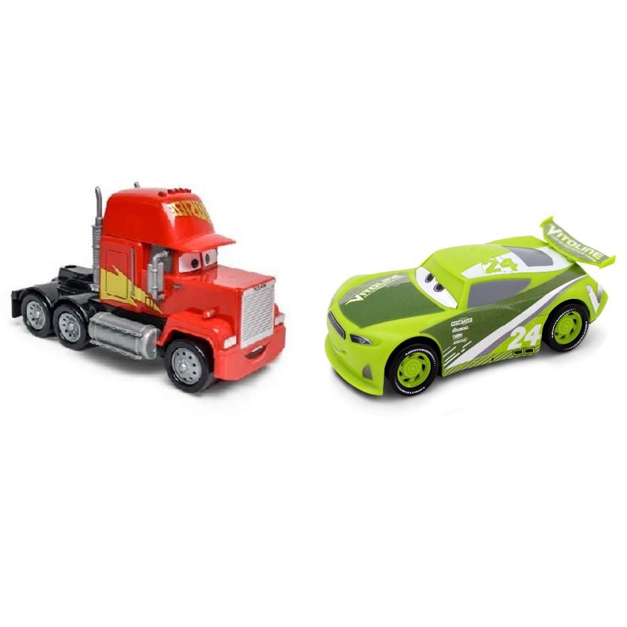 Kit com Vitoline e Caminhão Mack Disney Carros Roda Livre 13cm