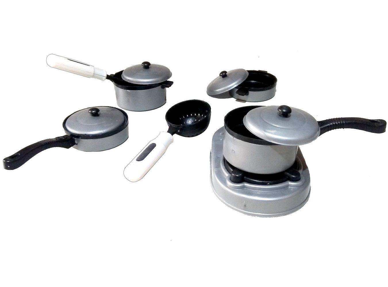 Kit Cozinha Panelinhas Com Fogão e utensílios Infantil