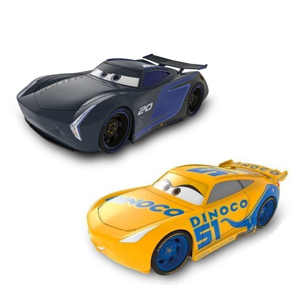 Kit Cruz Ramirez e Jackson Storm Carrinho  Disney Carros de 22cm Fricção