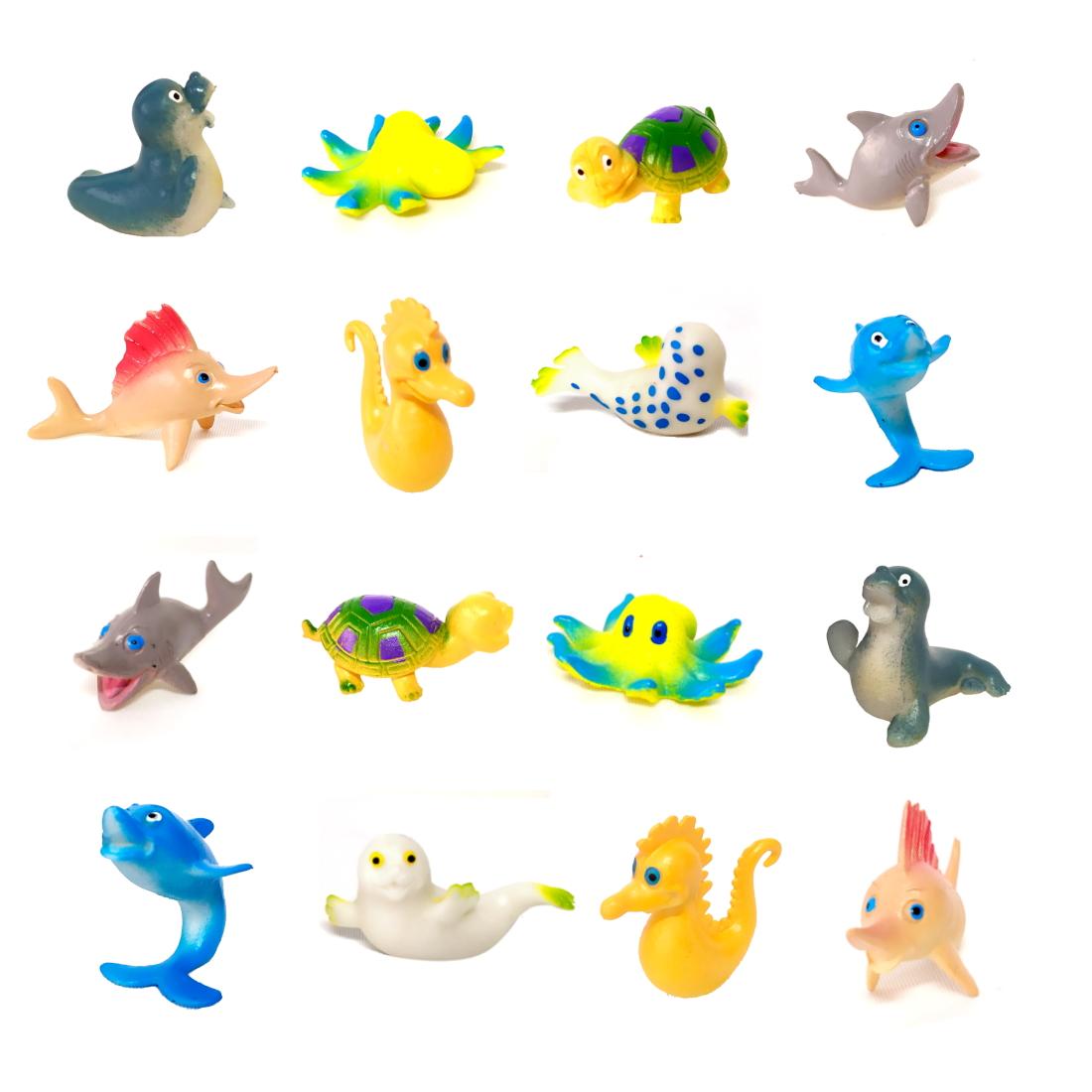 Kit de Animais Marinhos com 18 Bichos do Oceano