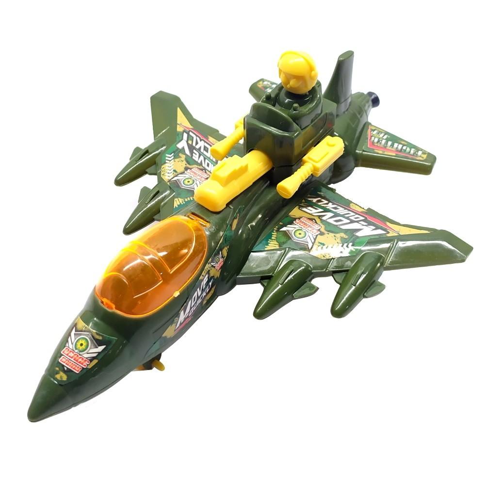 Kit de Aviões Brinquedo Infantil a Corda Modelo Caça Militar