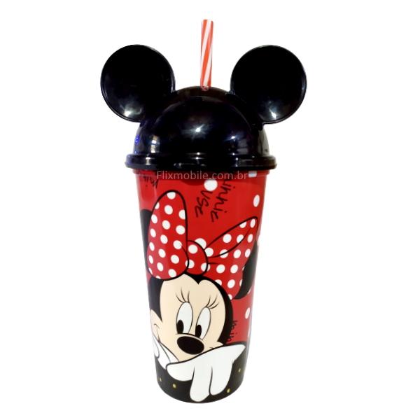 Kit Disney com Copo da Minnie e Mickey com Orelhas e Formas de fazer de Sorvete Picole