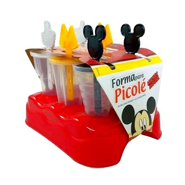 Kit Disney com Fabrica de Sorvete com 6 Forminhas e Copo da Minnie e Mickey